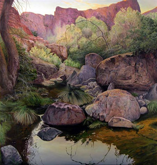 Creek, Superstition Mountains (Music Canyon Spring)